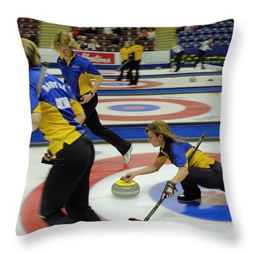 Cheryl Bernard Olympian Throw Pillow by Lawrence Christopher