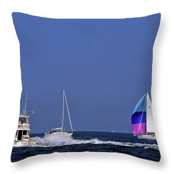 Chesapeake Bay Action Throw Pillow by Sally Weigand