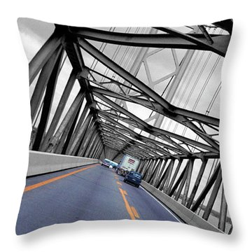 Chesapeake Bay Bridge Throw Pillow