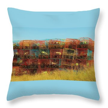 Chesapeake Bay Crabbing Throw Pillow