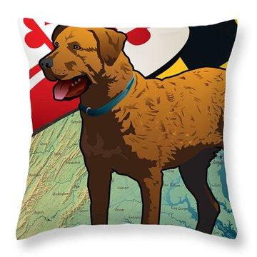 Chesapeake Bay Retriever Of Maryland  Throw Pillow