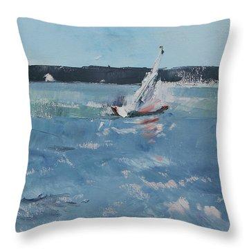 Chesapeake Bay Sailing Throw Pillow