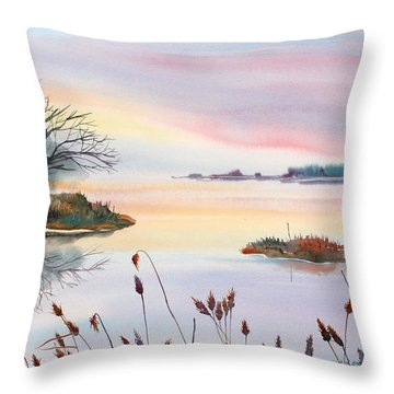 Chesapeake Bay Sunset Throw Pillow