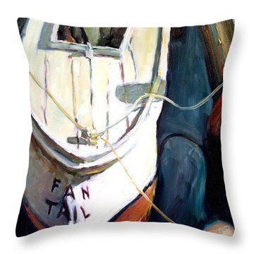Chesapeake Boat Throw Pillow by Bob Dornberg