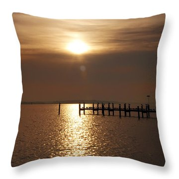 Chesapeake Morning Throw Pillow by Bill Cannon