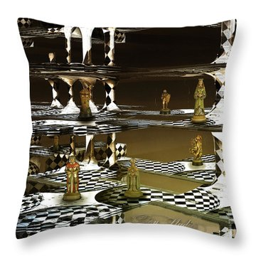 Chess Anyone Throw Pillow by Melissa Messick