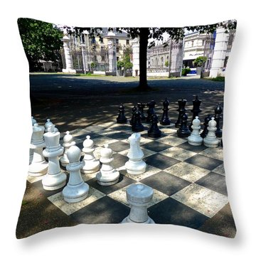 Chess At Bastion Park Switzerland Throw Pillow