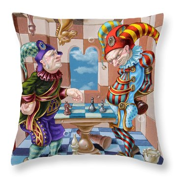 Chess Players Throw Pillow
