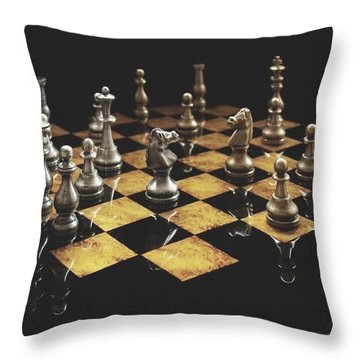 Chess The Art Game Throw Pillow