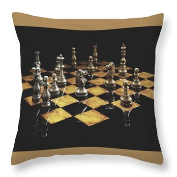 Chess The Art Game Throw Pillow by Sheila Mcdonald