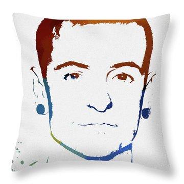 Chester Bennington Color Tribute Throw Pillow