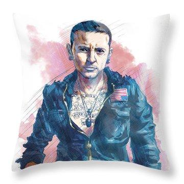 Chester Bennington Throw Pillows