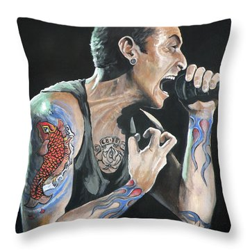 Chester Bennington Throw Pillow