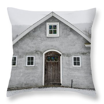 Chester County In The Snow Throw Pillow
