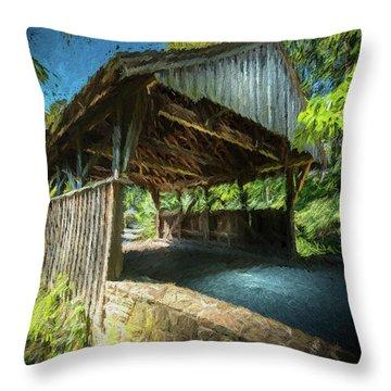 Chester Pennsylvania Bridge Throw Pillow