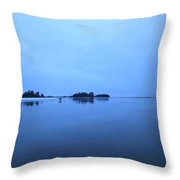Chesterman Spatial Blues Throw Pillow
