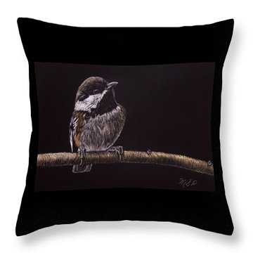 Chestnut Backed Chickadee Throw Pillow
