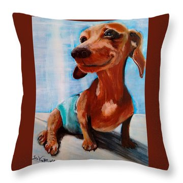Chestnut Throw Pillow by Jan VonBokel