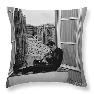 Chet Baker Throw Pillow