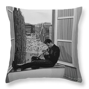 Chet Baker Throw Pillow