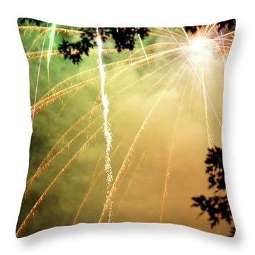 Chetola Yellow Fireworks Throw Pillow