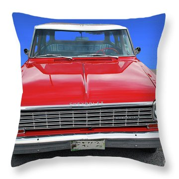 Throw Pillow featuring the photograph Chev Wagon by Bill Thomson