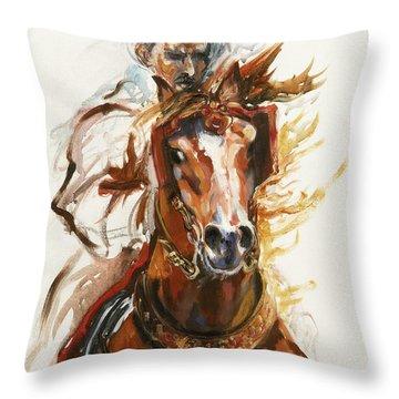 Running Horse Throw Pillows