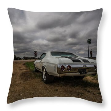 Throw Pillow featuring the photograph Chevelle Ss by Aaron J Groen