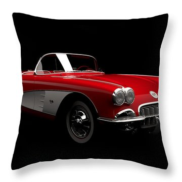 Chevrolet Corvette C1 Throw Pillow
