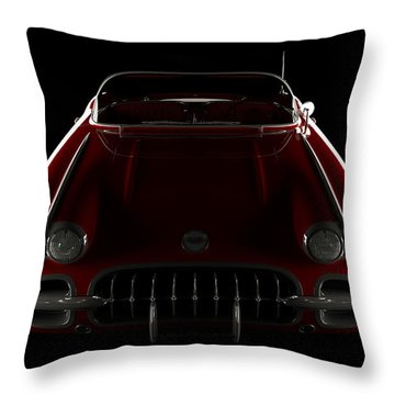 Chevrolet Corvette C1 - Front View Throw Pillow