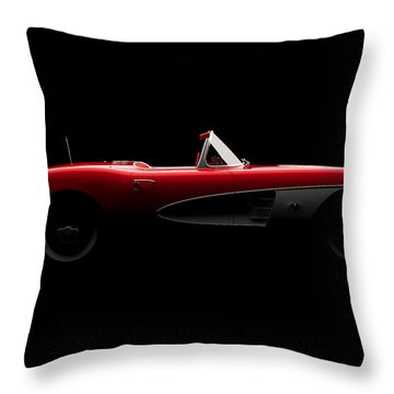 Chevrolet Corvette C1 - Side View Throw Pillow