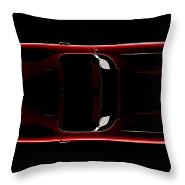 Chevrolet Corvette C1 - Top View Throw Pillow