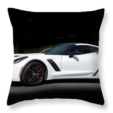 Chevrolet Corvette Z06 - 2017  Throw Pillow