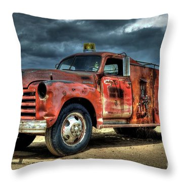 1948 Chevrolet Fire Truck Throw Pillow