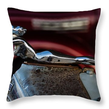 Throw Pillow featuring the photograph Chevrolet Hood Ornament by Jay Stockhaus