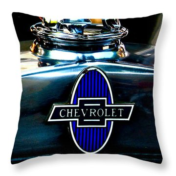 Chevrolet Hoodie Throw Pillow by Gwyn Newcombe