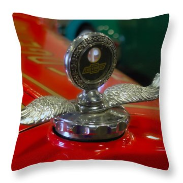 Throw Pillow featuring the photograph Chevrolet Wings by Michael Colgate