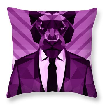 Chevron Panther Throw Pillow