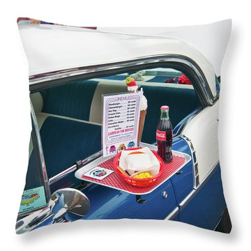 Chevy 2046 Throw Pillow by Guy Whiteley