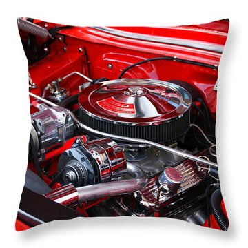 Chevy 350 Throw Pillow