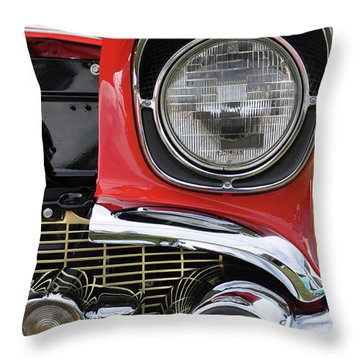 Throw Pillow featuring the photograph Chevy Bel Air by Glenn Gordon