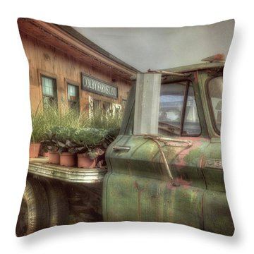 Throw Pillow featuring the photograph Chevy C 30 Pickup Truck - Colby Farm by Joann Vitali
