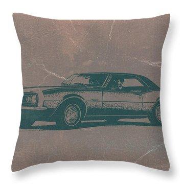 Chevy Camaro Throw Pillow by Naxart Studio