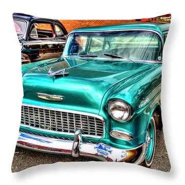 Chevy Cruising 55 Throw Pillow by Dale R Carlson