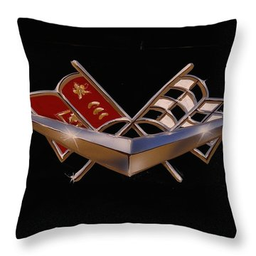 Throw Pillow featuring the painting Chevy Flags  by Alan Johnson