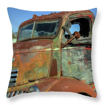 Chevy From Liberal, Kansas Throw Pillow
