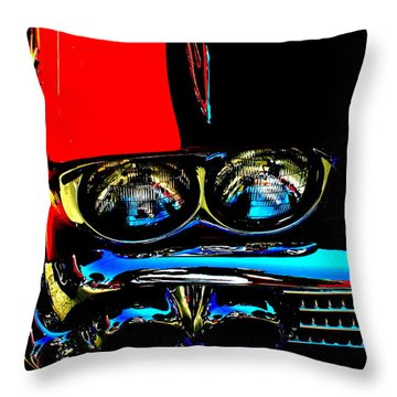 Chevy Throw Pillow by Gwyn Newcombe