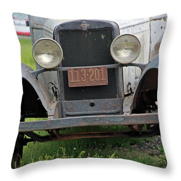 Chevy Huckster 1930 Grill Throw Pillow
