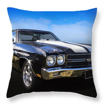 Throw Pillow featuring the photograph Chevy Muscle by Keith Hawley