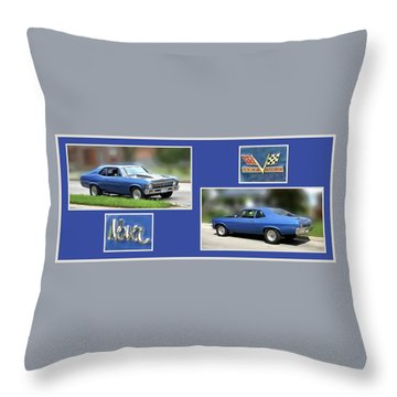 Chevy Nova Horizontal Throw Pillow